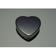 Boîte en aluminium petit coeur argenté
