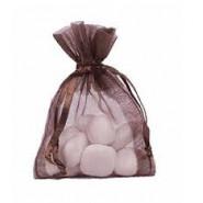 Lot de 10 sacs en organdi chocolat