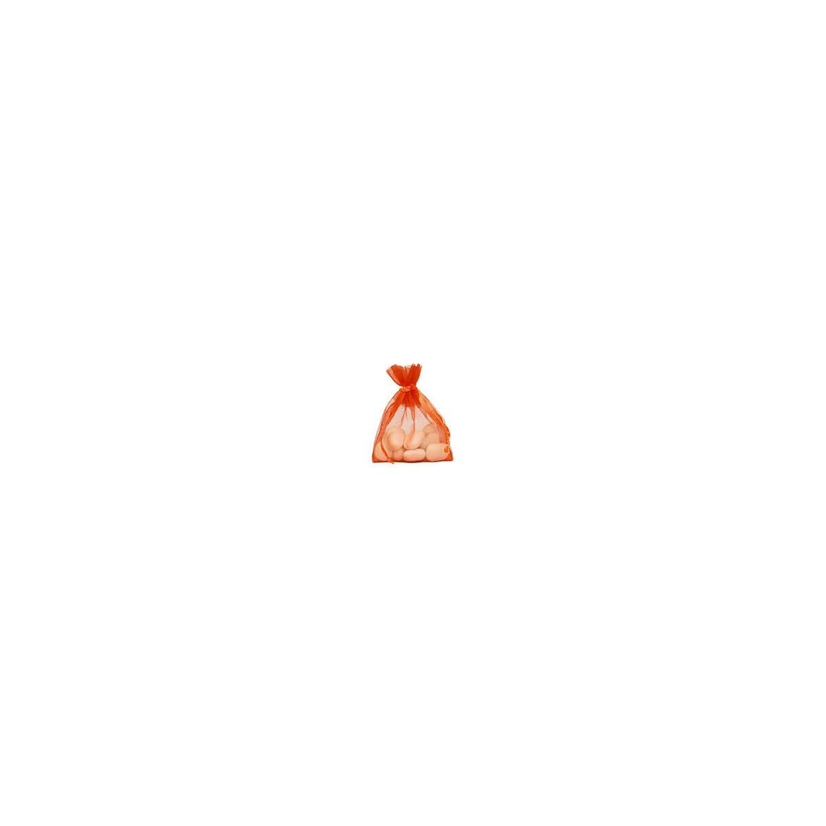 Lot de 10 sacs en organdi orange