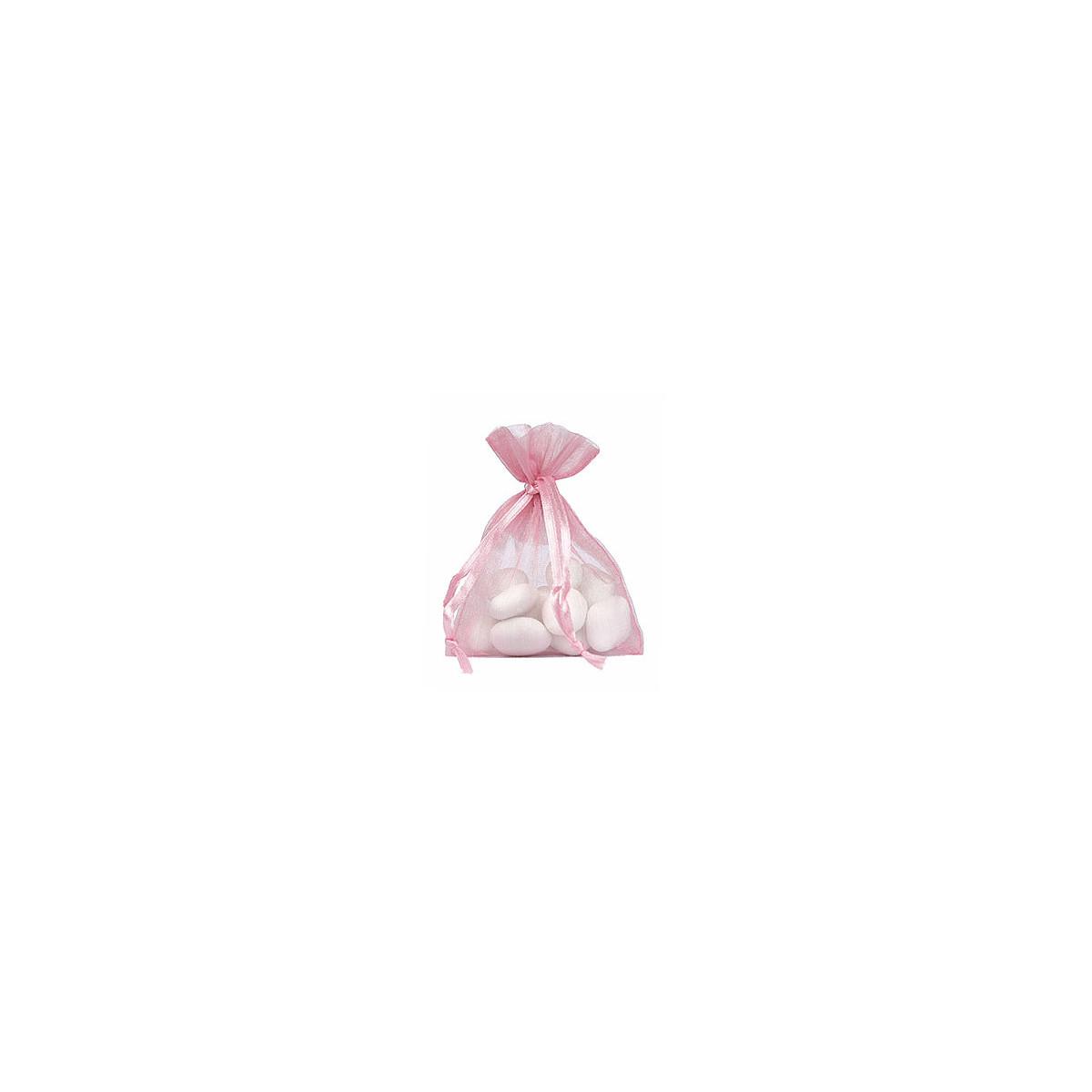 Lot de 10 sacs en organdi rose
