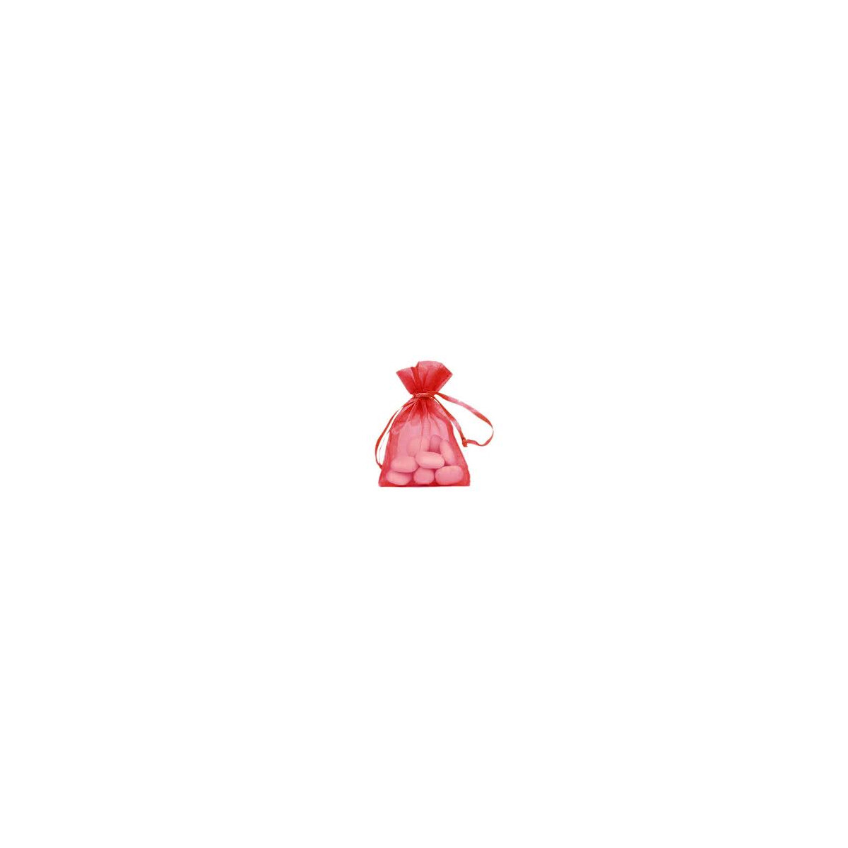 Lot de 10 sacs en organdi rouge