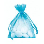 Lot de 10 sacs en organdi turquoise