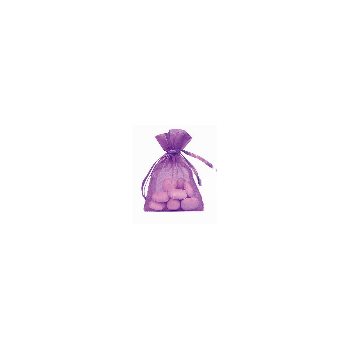 Lot de 10 sacs en organdi violet