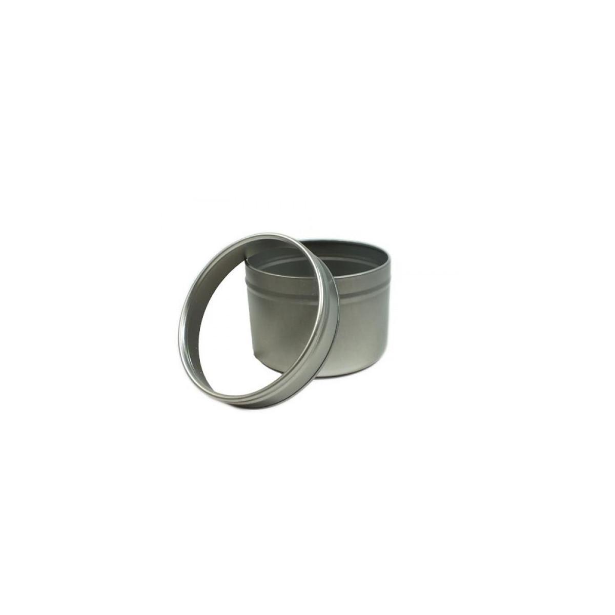 Boîte ronde en aluminium Argent 100ml