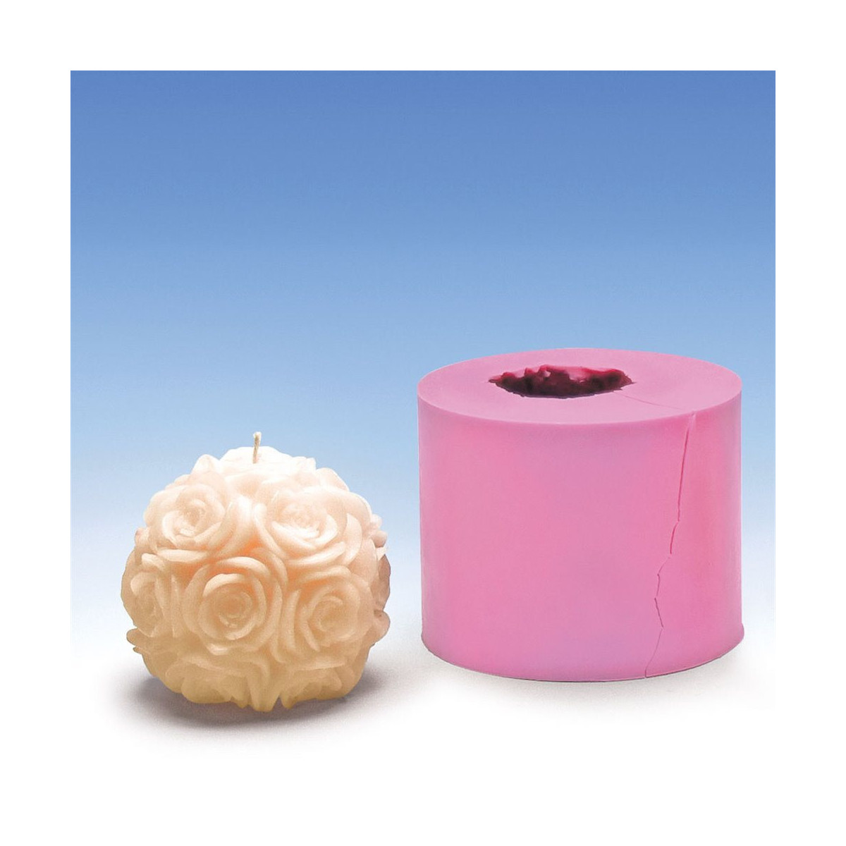 Moule silicone boule de roses